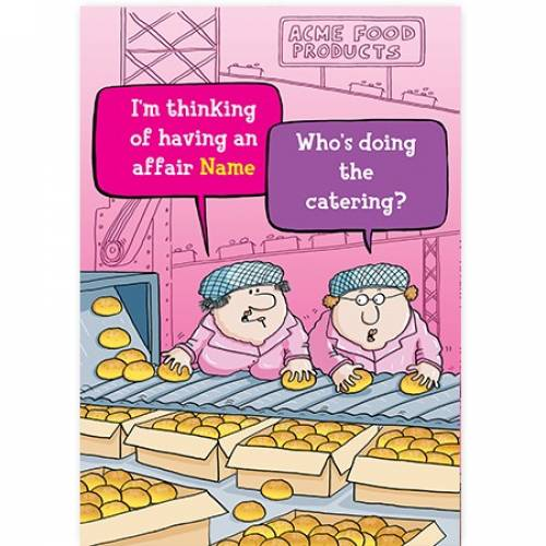 Assembly Line Funny Female Card