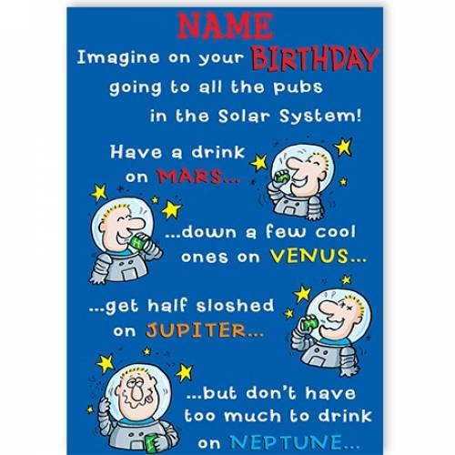 Pub Crawl Birthday Card