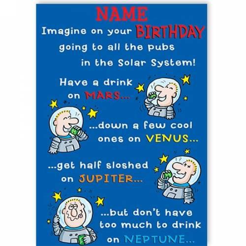 Pub Crawl Birthday Card