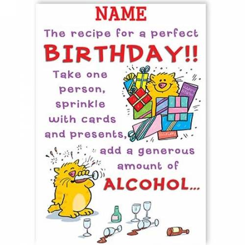 Recipe For A Perfect Birthday Card