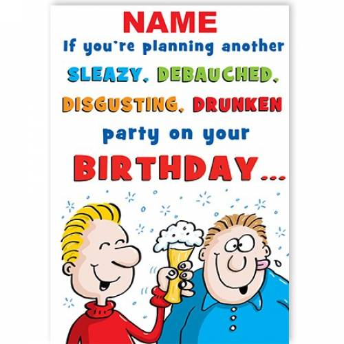 Party Planning Funny Birthday Card