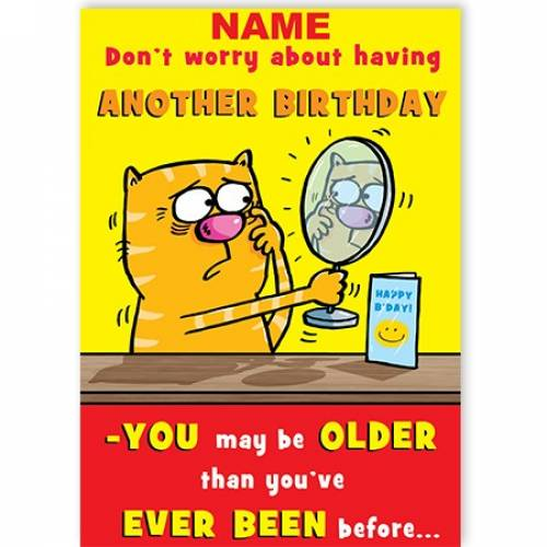 Older/Younger Funny Birthday Card