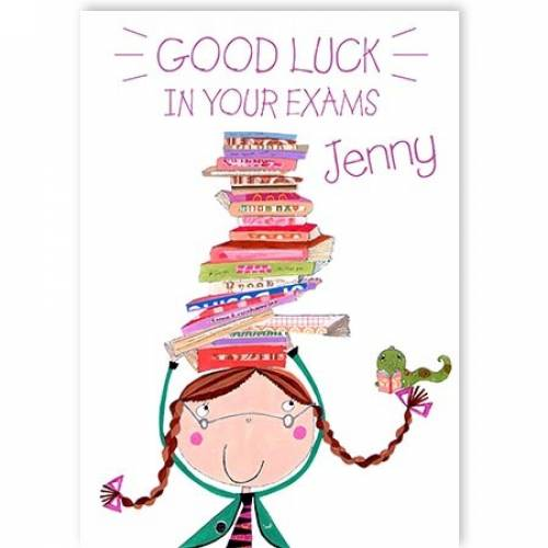 Balancing Books Good Luck In Your Exams Card