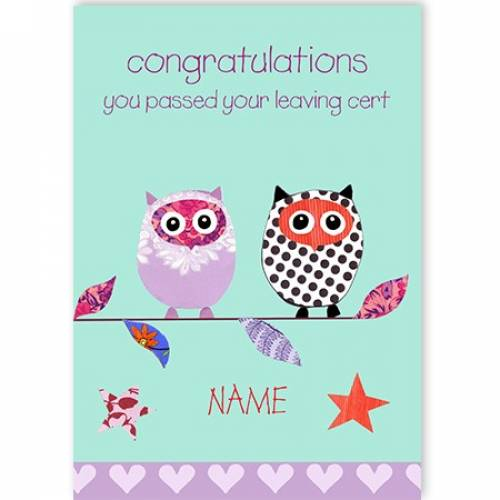 Congratulations You Passed Your Leaving Cert Card