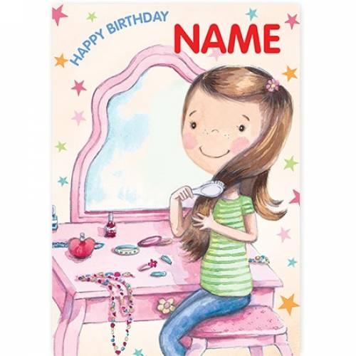 Makeup Girl Happy Birthday Card