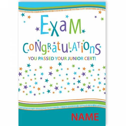 Exam Congratulations - Junior Cert Card