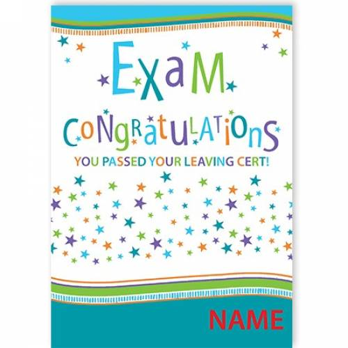 Exam Congratulations - Leaving Cert Card