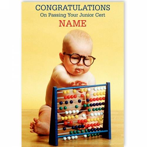 Congratulations On Passing Your Junior Cert Abacus Card