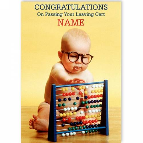 Congratulations Of Passing Your Leaving Cert Abacus Card