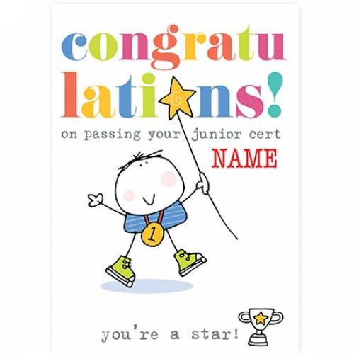 Congratulations On Passing Your Junior Cert, NO. 1 Card