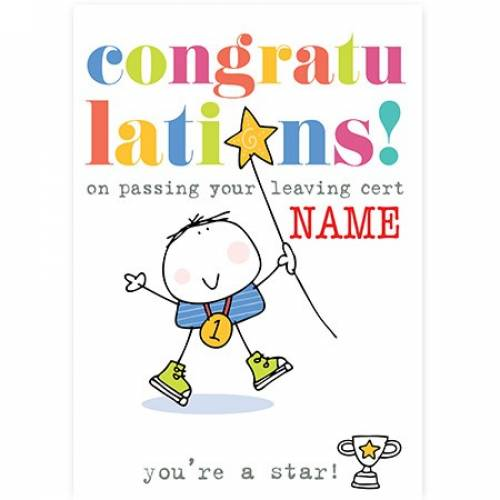 Congratulations On Passing Your Leaving Cert, No. 1 Card