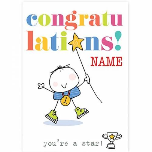 Congratulations, You're A Star - No. 1 Card