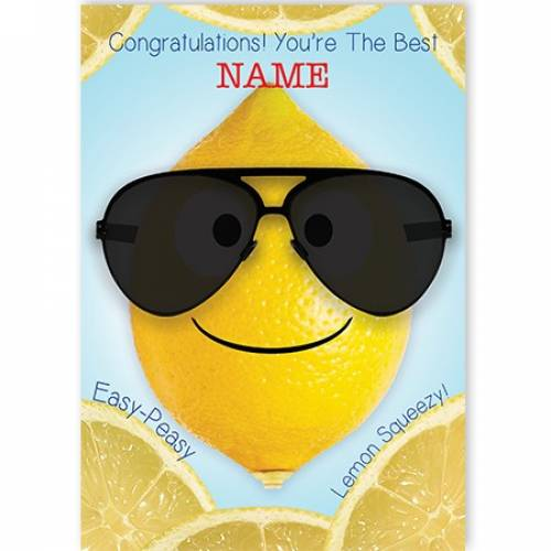 Congratulations, Easy Peasy Card