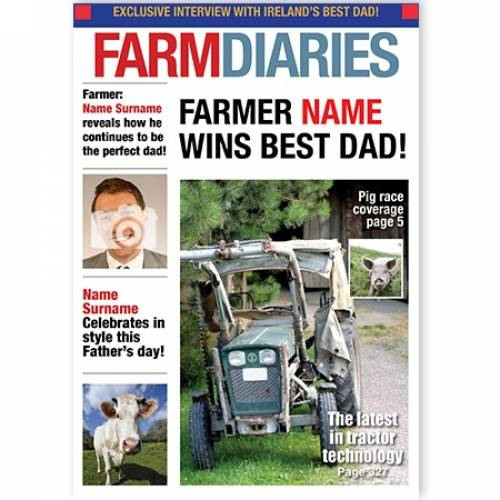 Farm Diaries Best Dad Upload Photo Card