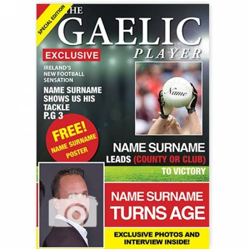 Gaelic Play Happy Birthday Card