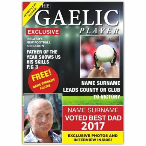 Gaelic Player Best Dad Card