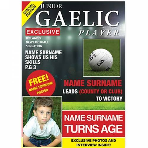 Junior Gaelic Player Happy Birthday Card