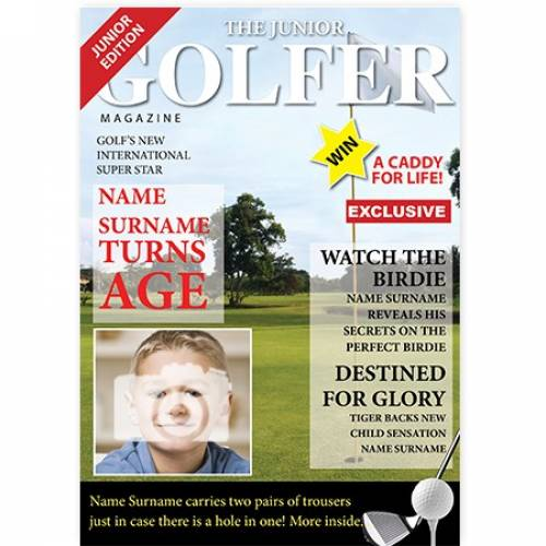 The Junior Golfer Magazine Cover Card