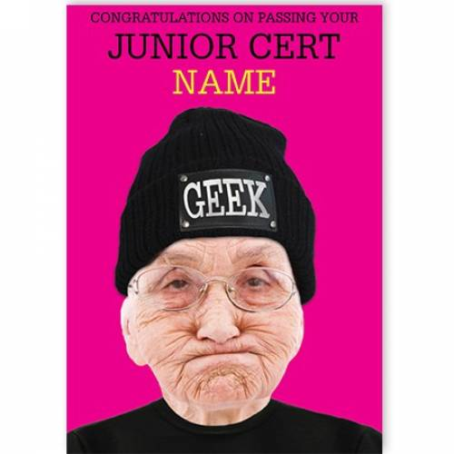 Congratulations Of Passing Your Junior Cert Geek Card