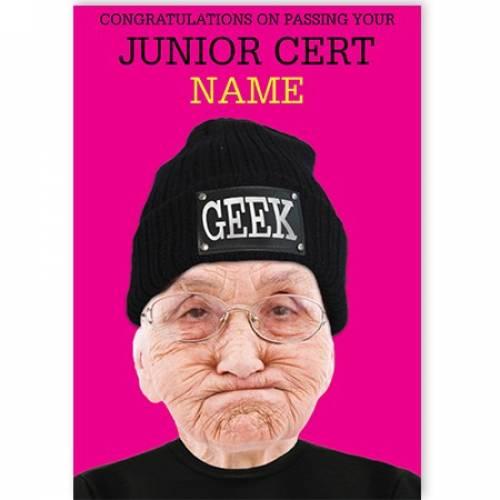 Congratulations Of Passing Your Junior Cert Geek Card