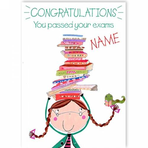 Congratulations You Passed Your Exams Balancing Books Card
