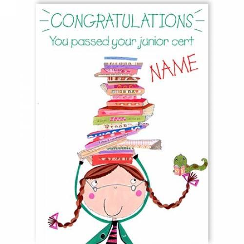 Congratulations On Your Junior Cert Balancing Books Card