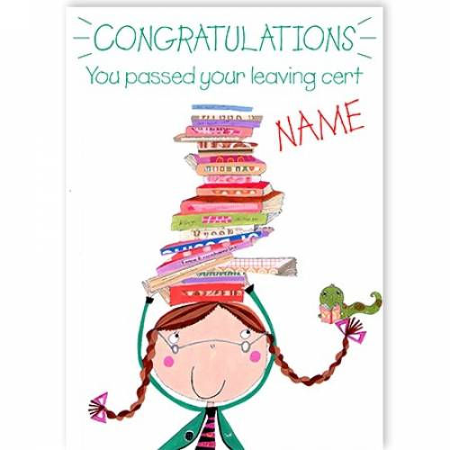 Congratulations On Your Leaving Cert Balancing Books Card