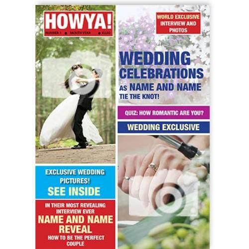 Wedding Celebrations Magazine Cover Card