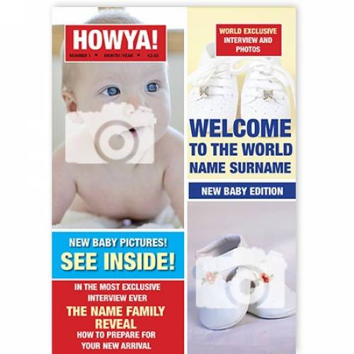 Howya New Baby Magazine Cover Card