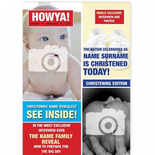 Howya Christening Magazine Cover Card