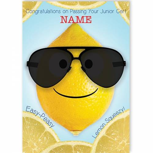 Congratulations Junior Cert Lemon Card