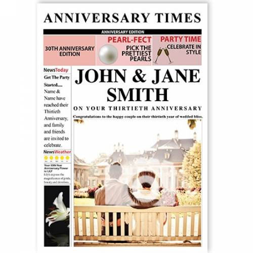 Anniversary Times 30th Magazine Cover Card