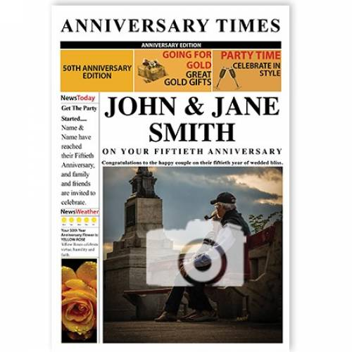 Anniversary Times 50th Magazine Cover Card