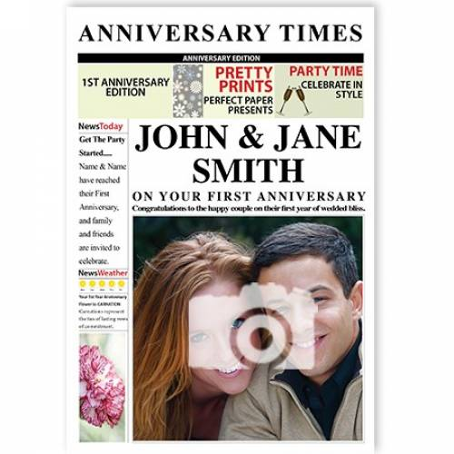 Anniversary Times 1st Magazine Cover Card