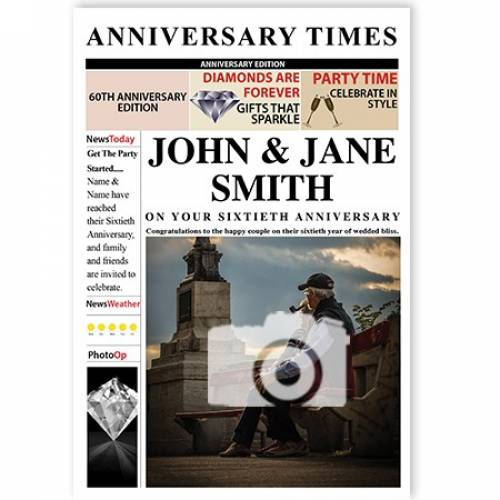 Anniversary Times 60th Magazine Cover Card