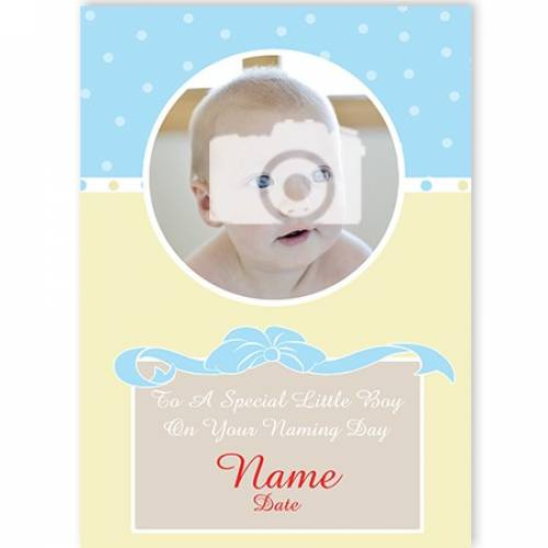 Special Little Boy On Your Naming Day Card