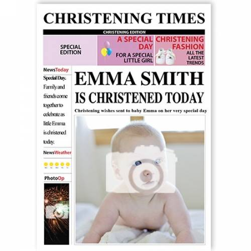 Christening Times Female Card