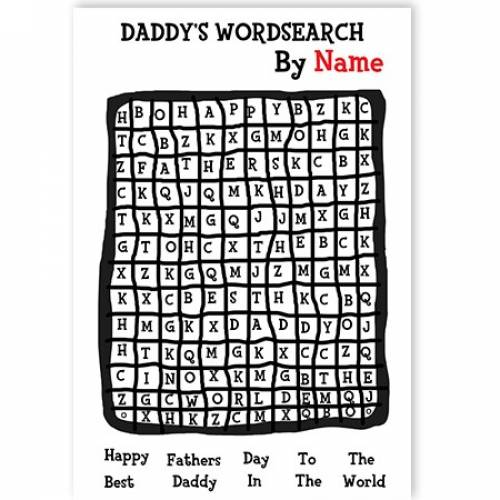 Happy Fathers Day Wordsearch Card