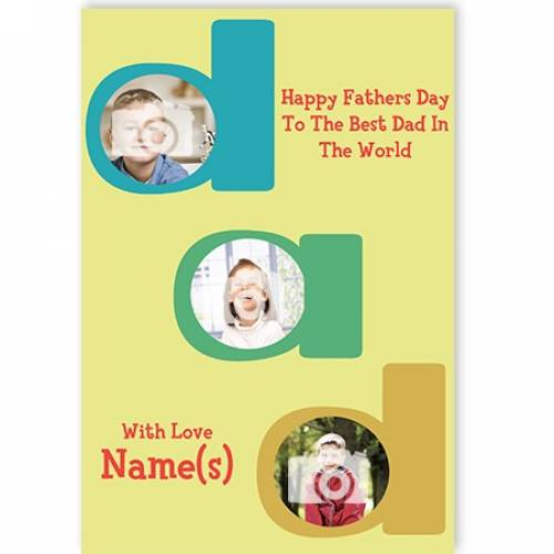 Happy Fathers Day DAD Card