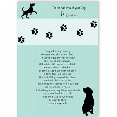 On The Sad Loss Of Your Dog Card