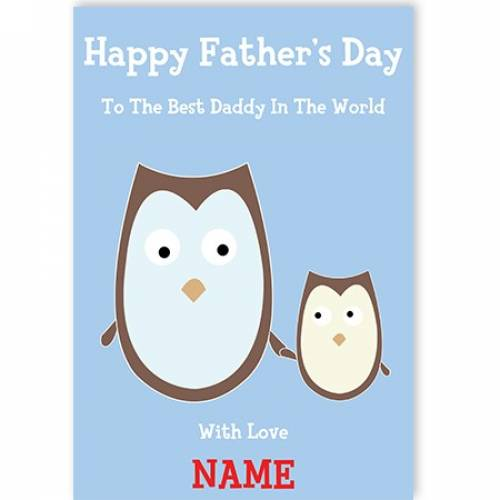 Happy Father's Day Owl Card