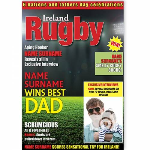 Ireland Rugby Best Dad Card