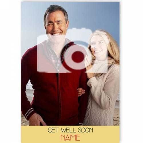 Photo Get Well Soon Card