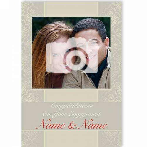 Photo Congratulations On Your Engagement Card