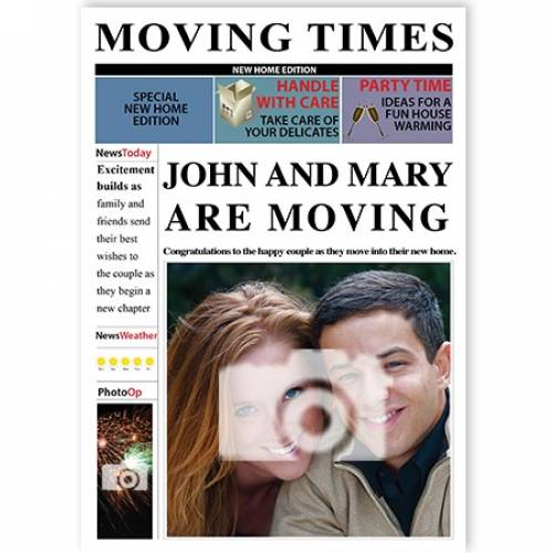 Moving Times Insert Photo Card