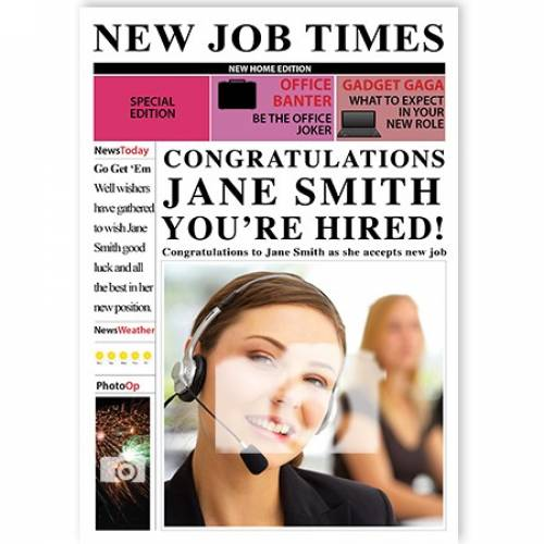 New Job Congratulations Your'e Hired Card