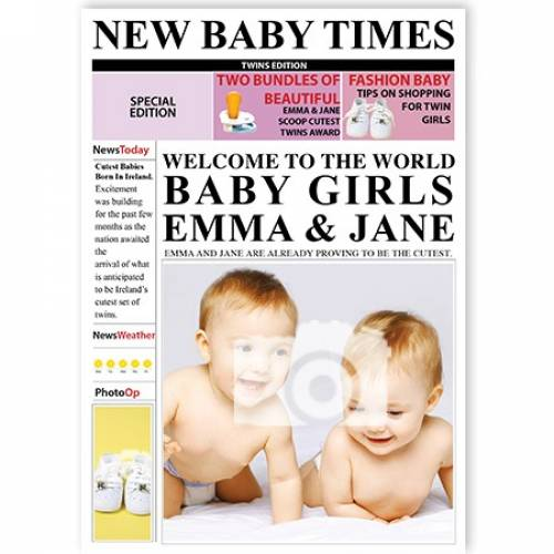 New Baby Times Welcome To The World Baby Girls Card