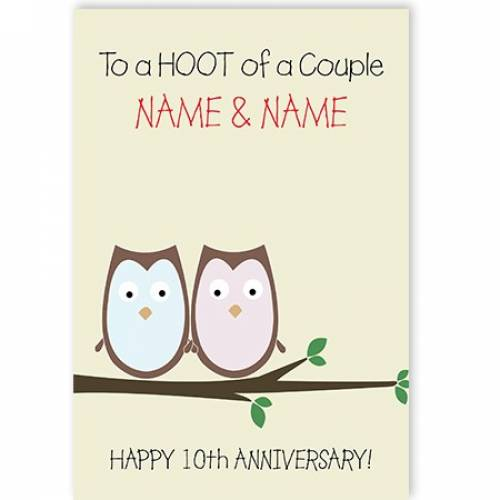 A Hoot Of A Couple Card