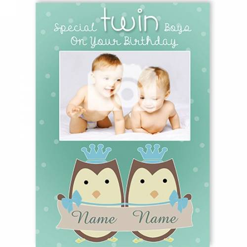 Special Twin Boys On Your Birthday Card
