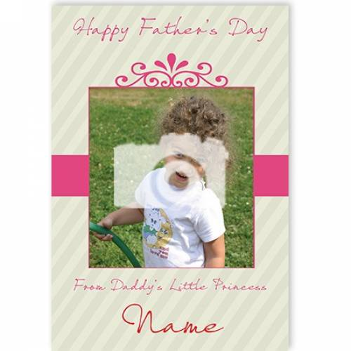 Photo From Daddy's Little Princess Happy Father's Day Card